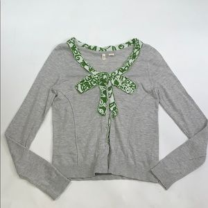 Moth Green Accent Sweater